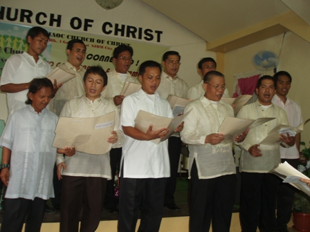 "Gumaoc Church of Christ Men's Choir singing ""Ang Misyonero"" during the 22nd Church Anniversary last November 9, 2008."